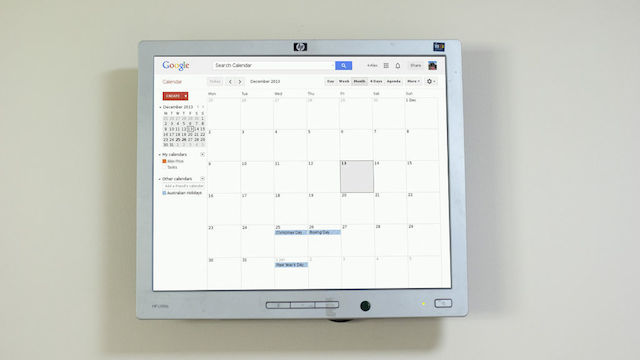 Mount a Raspberry Pi-Powered Google Calendar On Your Wall