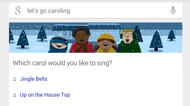 Google Now Wants To Go Christmas Caroling With You