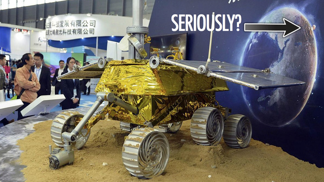 Chinese rover diorama shows Europe being nuked