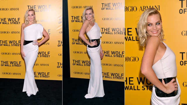 Margot Robbie Is the Black and White Wolf of Wall Street