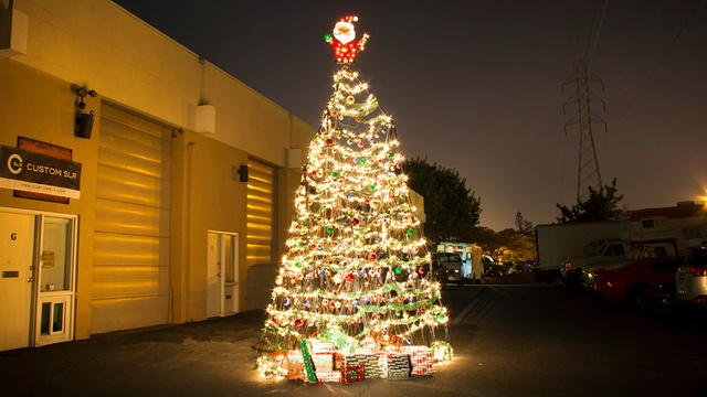 The World's Largest (and Probably Only) Tripod Christmas Tree
