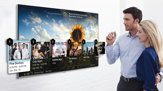 Samsung's 2014 Smart TVs Will Be Controlled By Your Pointed Finger