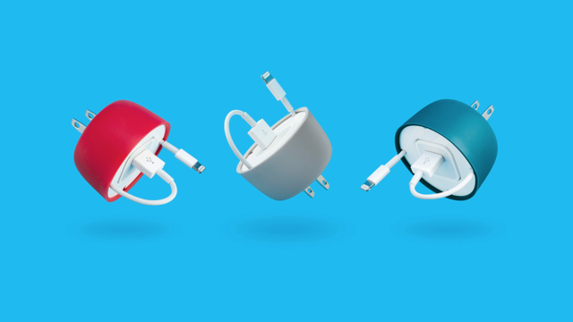 PowerCurl Mini Neatly Contains an iPhone Power Adapters and Cable