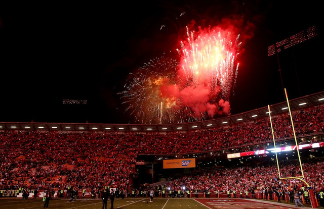 Bye, Candlestick: [They played one last regular-season football…