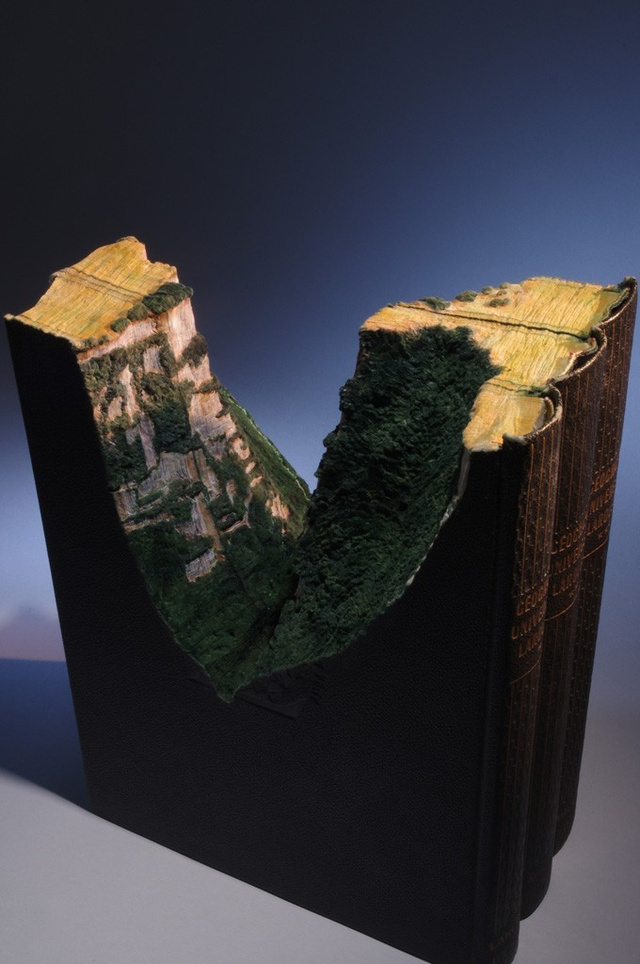 This Intricate Landscape Is Carved Into the Encyclopedia Britannica