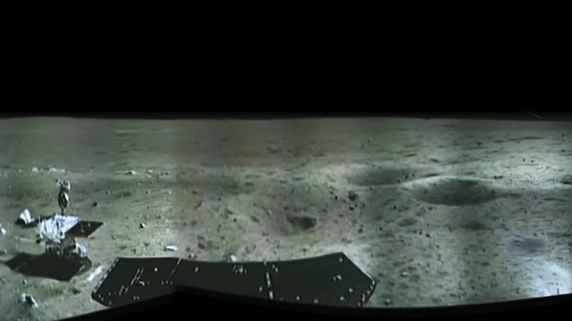 Beautifully desolate panorama from China's moon lander