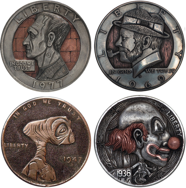 Watch a Nickel Transformed Into a Tiny, Intricate Sculpture