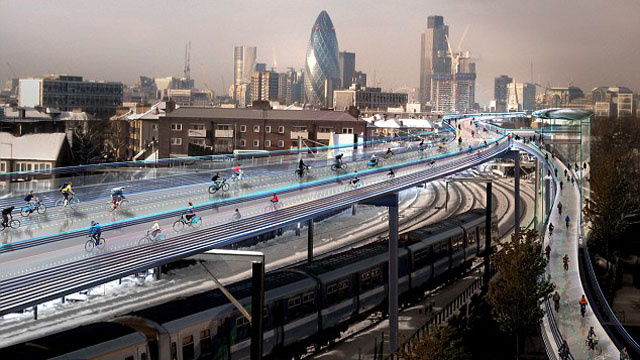 This Is London's Floating Bike Road Dream