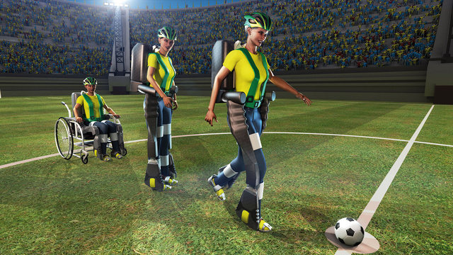 A Mind-Controlled Exoskeleton Will Kick Off the 2014 World Cup