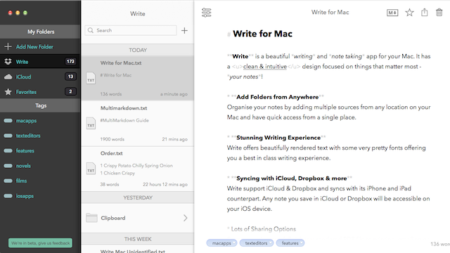 Write for Mac Brings the
