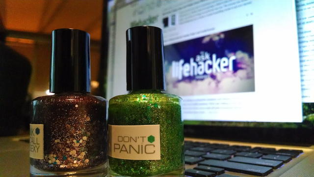 Use Glitter Nail Polish to Make Your Laptop Tamper-Proof