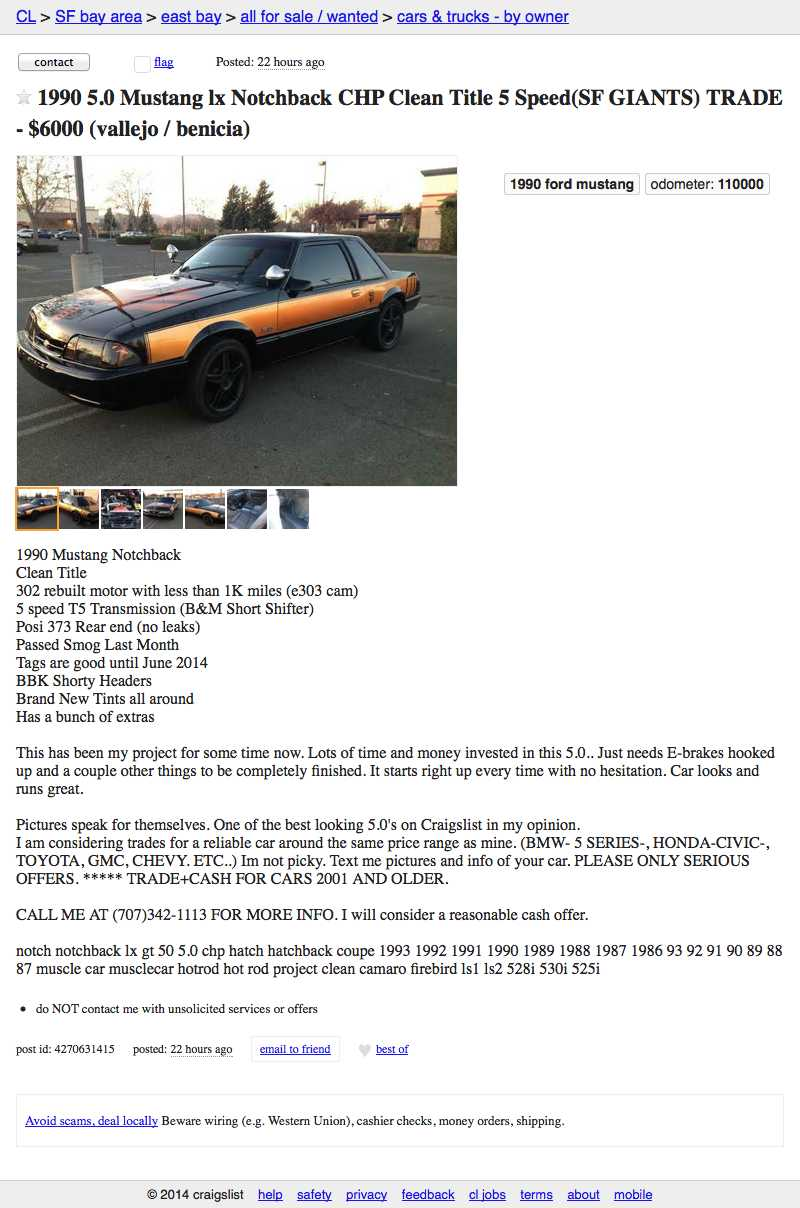 For 6 000 Is This Mustang A San Francisco Treat