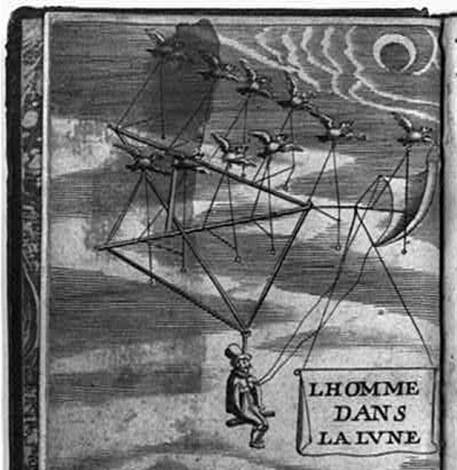 300 Years of Imaginary Space Flight, From Geese to Anti-Gravity Ships