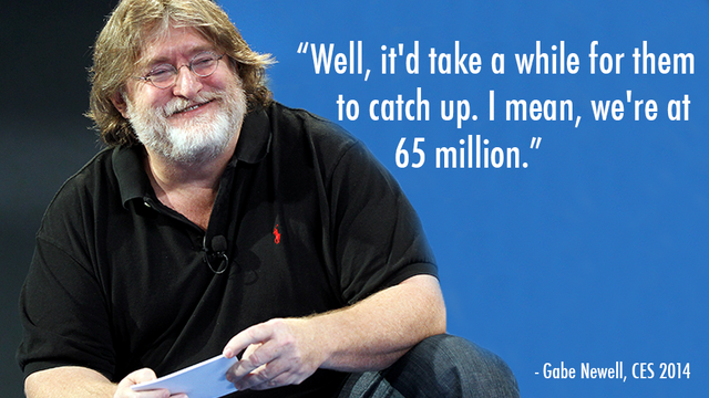 Why Gabe Newell Isn't Worried About The Xbox One