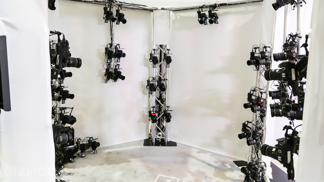 64 cameras used to make a 3D body model