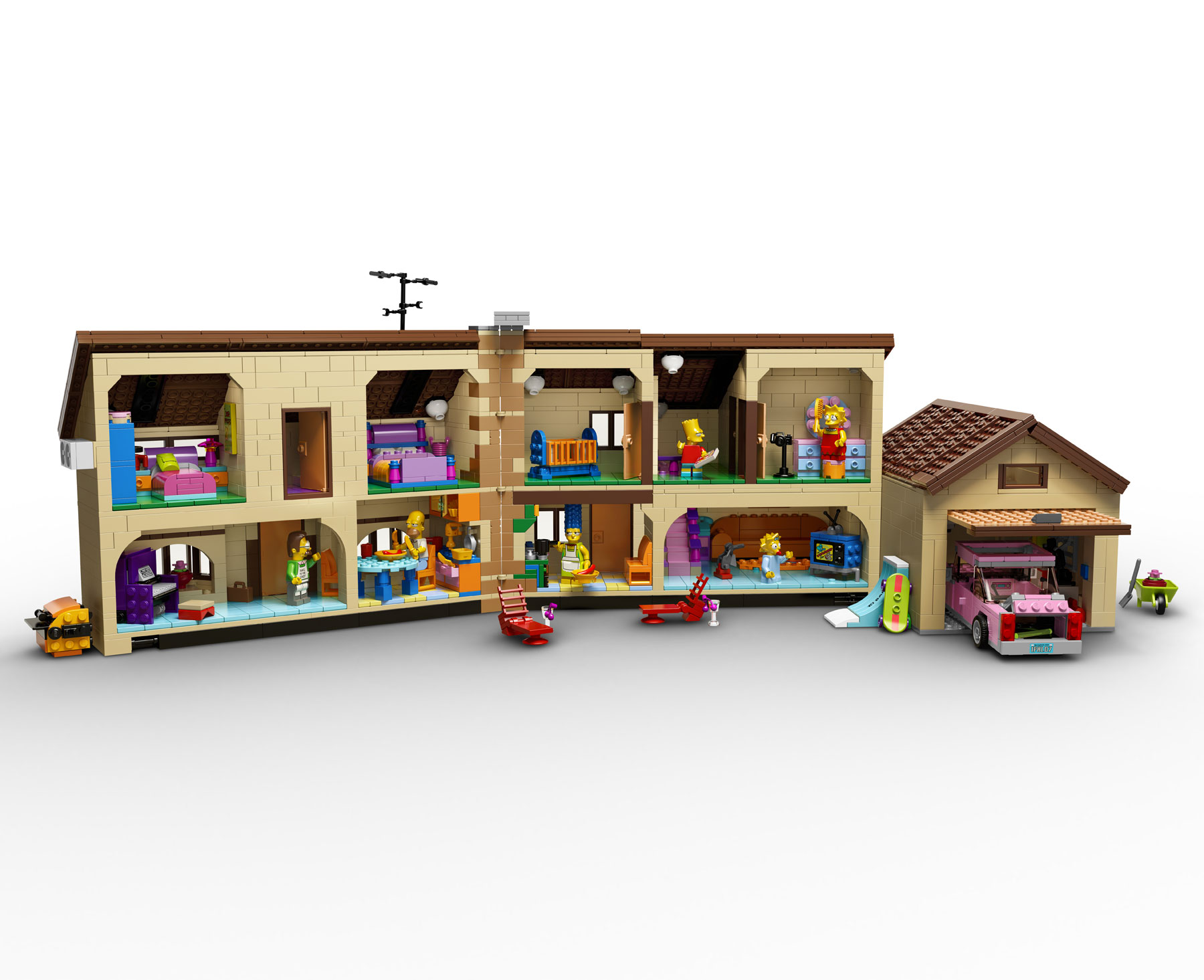 Lego House Plans The Simpsons House Plan House Plans