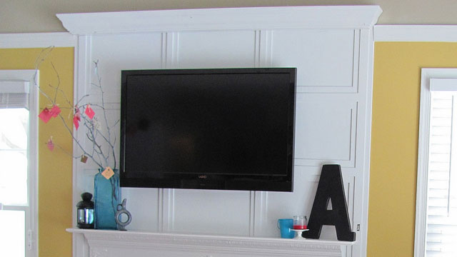 Hide tv cords behind wall trim - How to hide cords on wall ...