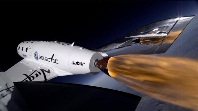Virgin Galactic's SpaceShipTwo looks beautiful when it flies so bright