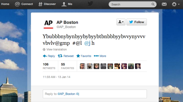 AP Boston's Twitter Account