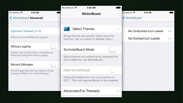 Winterboard Updated for iOS 7