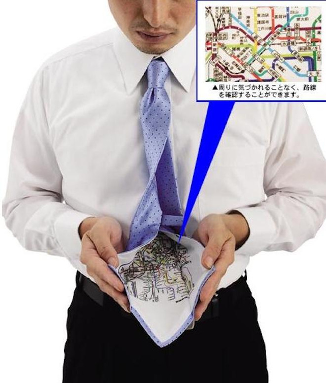 A Tie with a Hidden Tokyo Subway Map is Nerdy and Brilliant