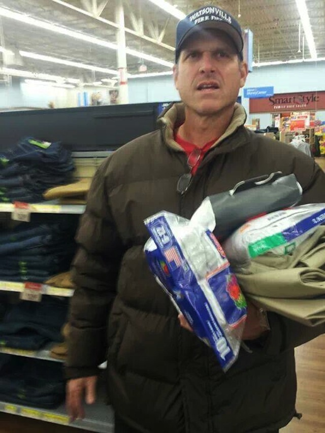 Photo Evidence Of Jim Harbaugh Buying Walmart Khakis
