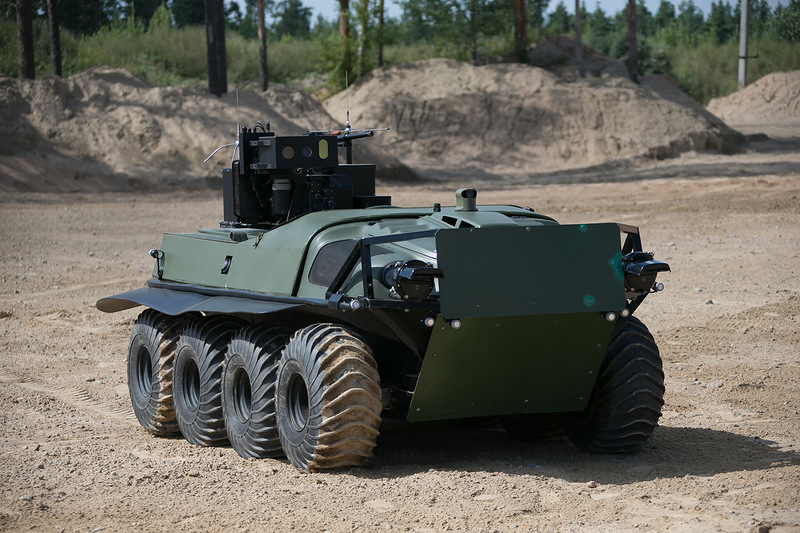 Russia is developing ground drone army -- including amphibious models