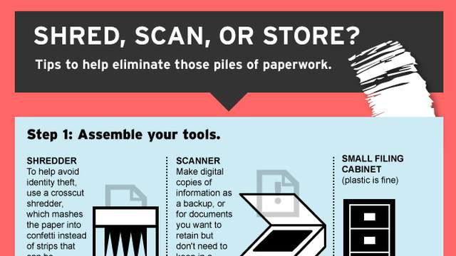 This Infographic Shows You What Documents to Shred, Scan, or Store
