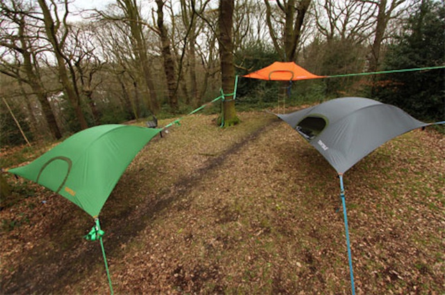 The ground is for suckers. These awesome tents are portable tree forts!