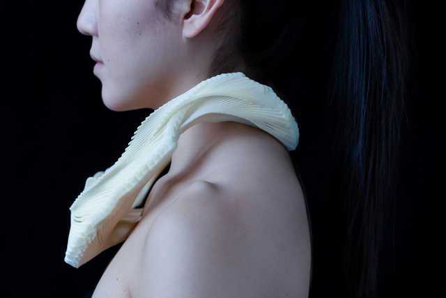 These Intricate Collars Look Like Fish Bones, Are Actually 3D-Printed