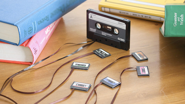 Cassette Tape Bookmarks Adorably Pair Two Dead Forms of Media