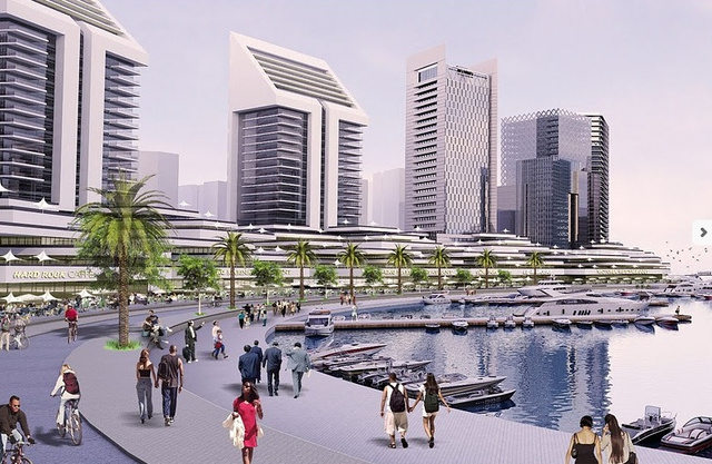 An Entire City Under Construction to Save Another from Climate Change