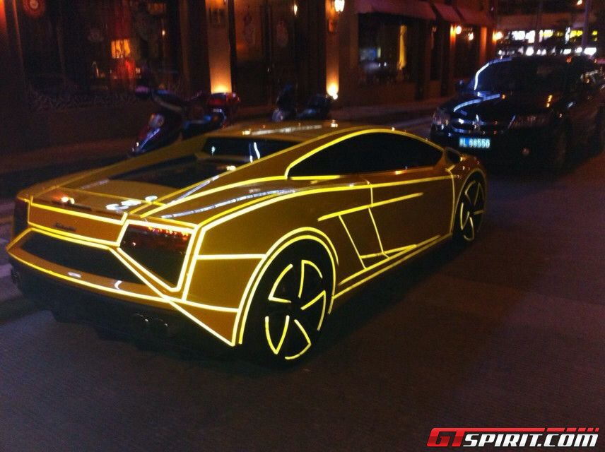 Tron cars are the latest fad in China