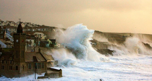 Massive Waves Batter the Coasts of Britain