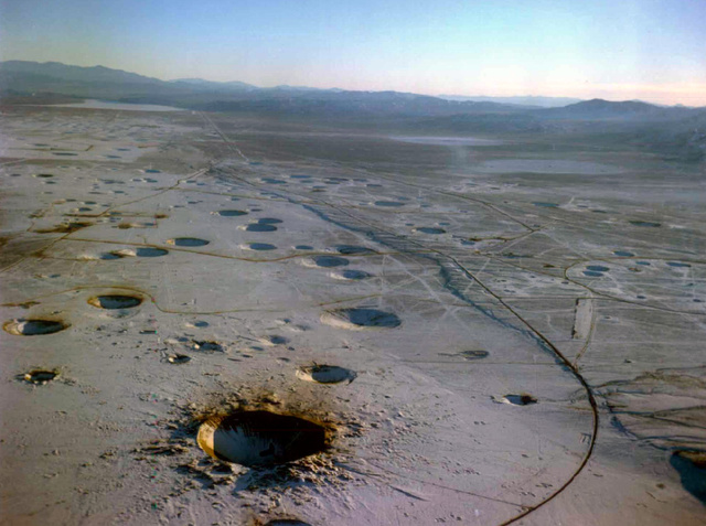 See Nevada's Hellish Nuclear Moonscape From Above