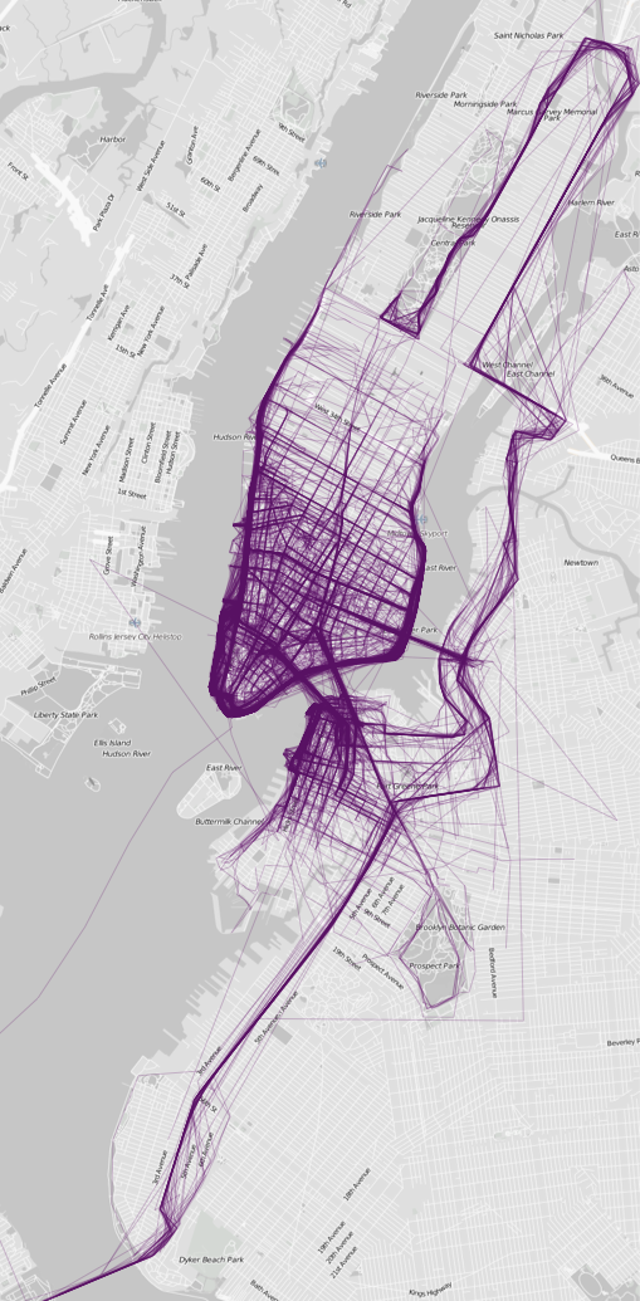 The World's Most Popular Running Routes, Visualized