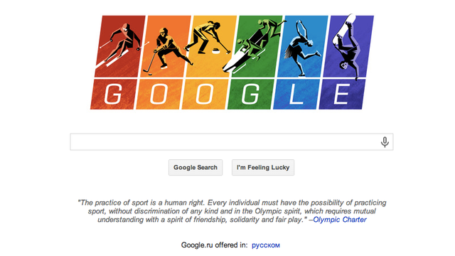 Google's Doodle Celebrates Homosexuality at the Olympics