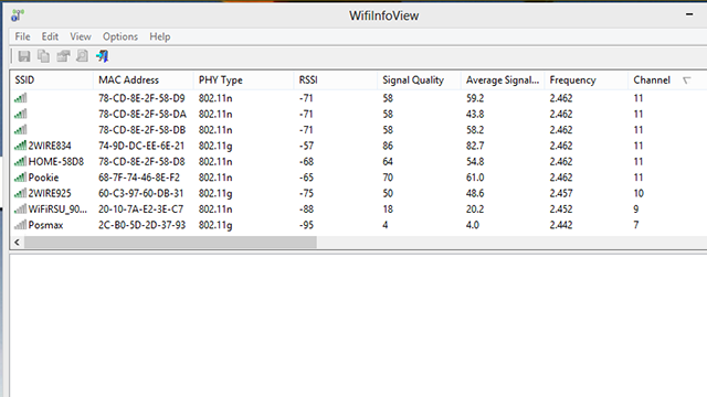 WifiInfoView Shows Info About