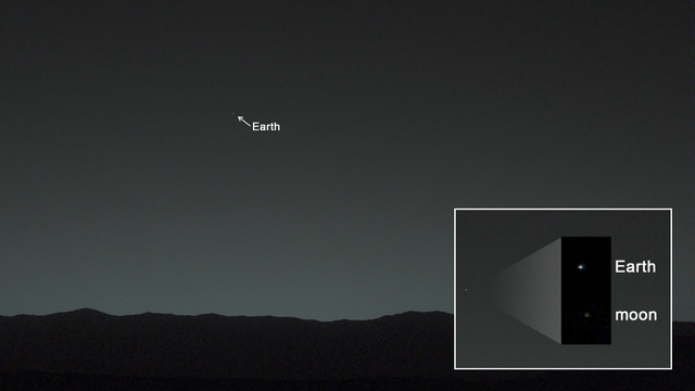 Curiosity captures its initial photo of Earth from your surface associated with Mars