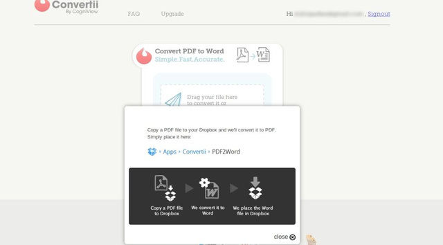 Convertii Turns Dropbox PDF