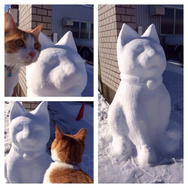 The Upside of Japan's Snow Storm? Wonderful Snow Sculptures.