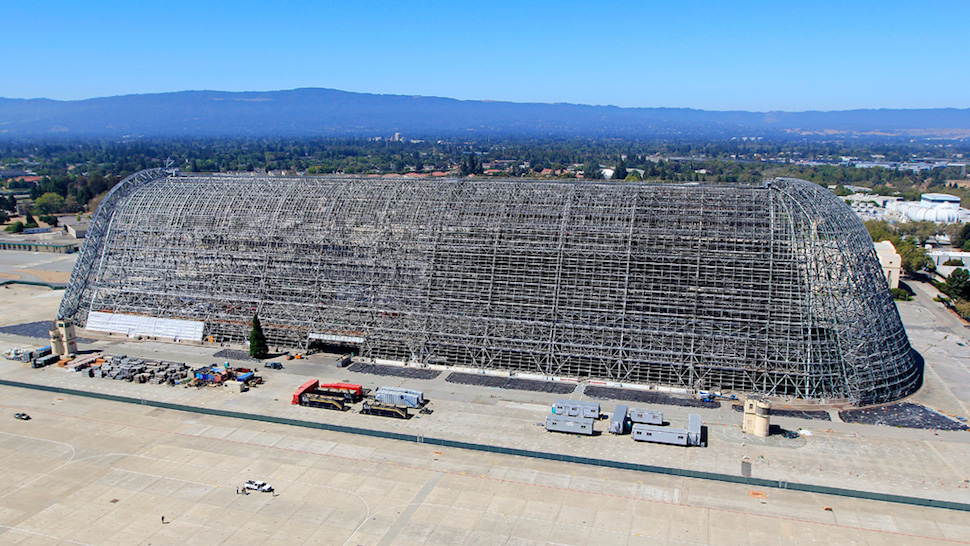 Google Buys NASA Blimp Hangar To Go With Its Barge