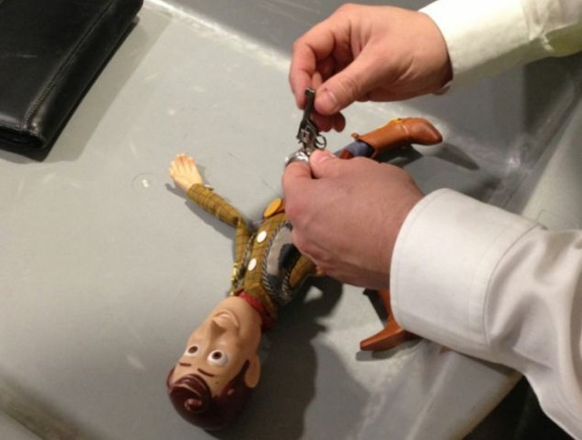 Woody Doll's Tiny Toy Gun Confiscated by Airport Security