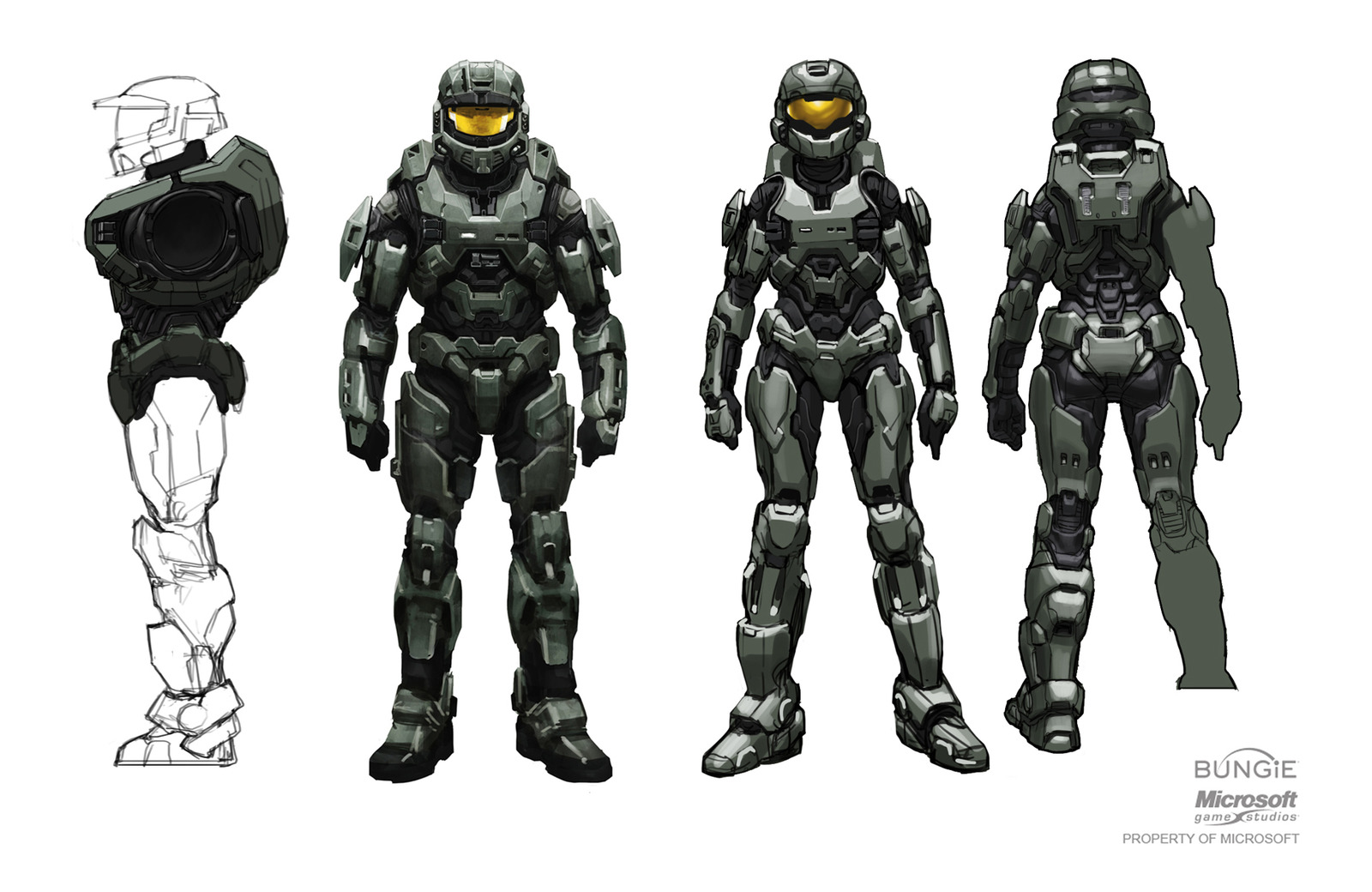 Halo Characters Drawings Halo Destiny Artist Sure