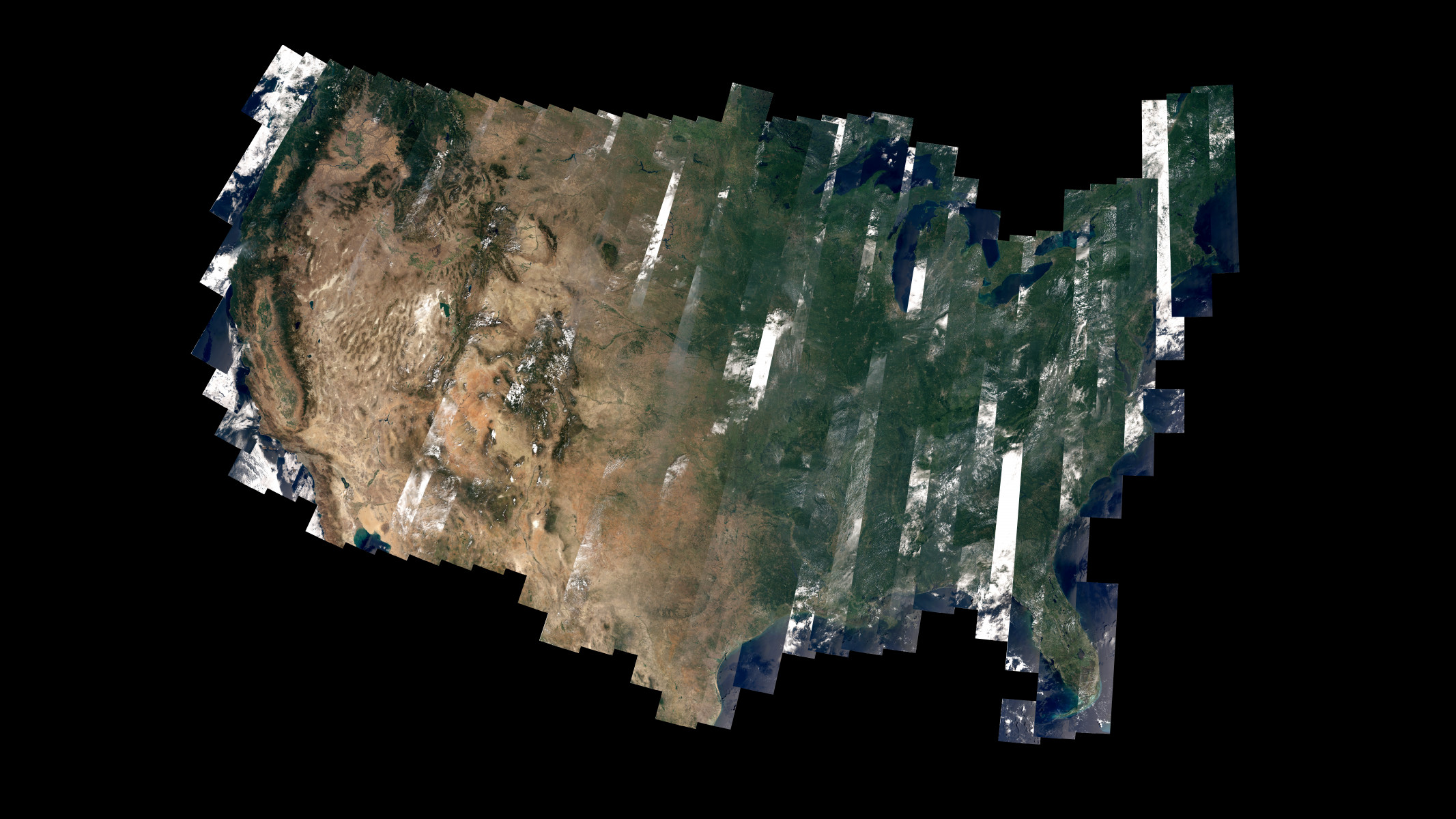 This Beautiful Patchwork US Celebrates Landsat 8's First Year In Space