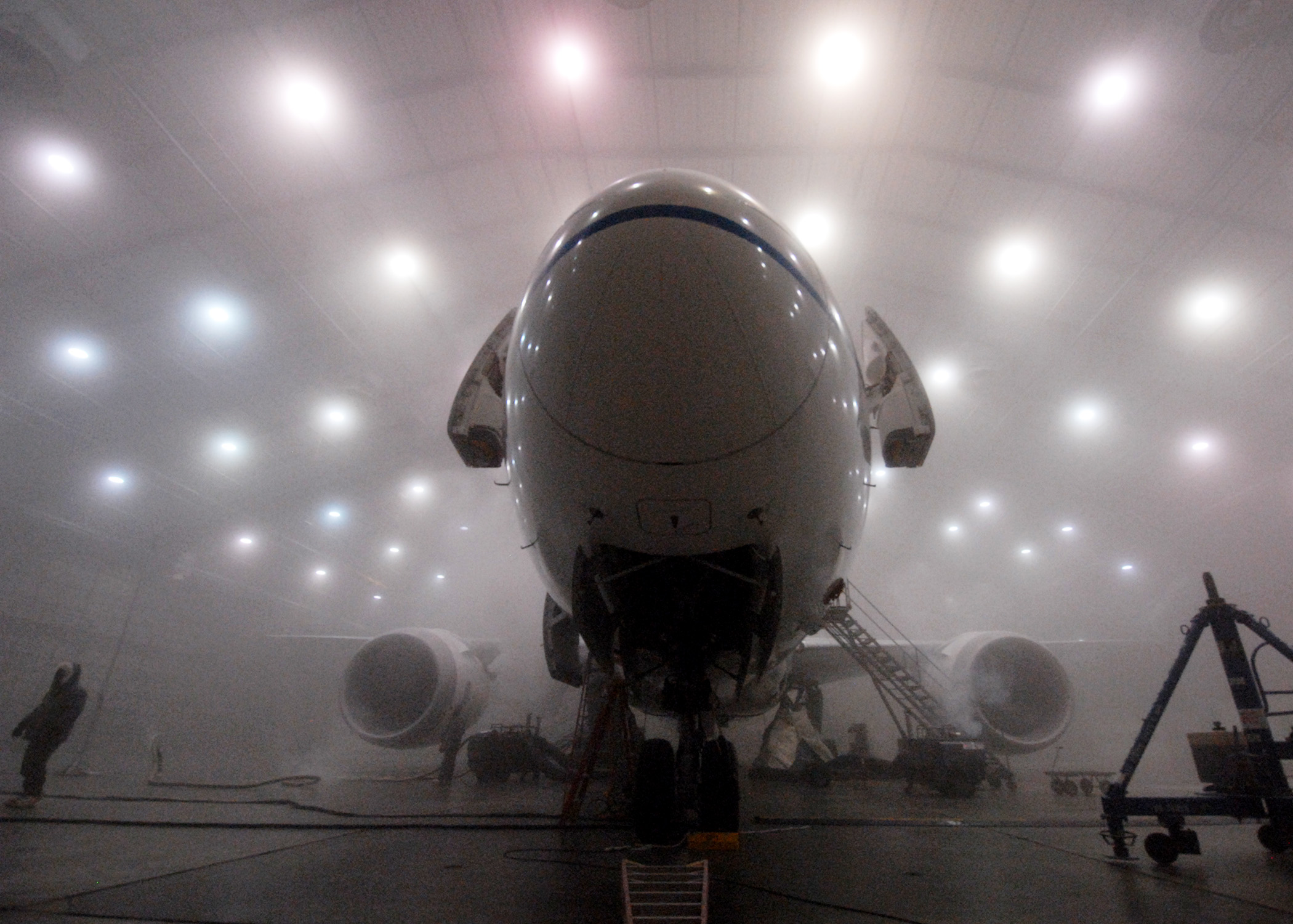 Inside the military lab where they freeze and cook entire aeroplanes