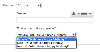 Facebook Users Get Custom Gender Options for the Very First Time