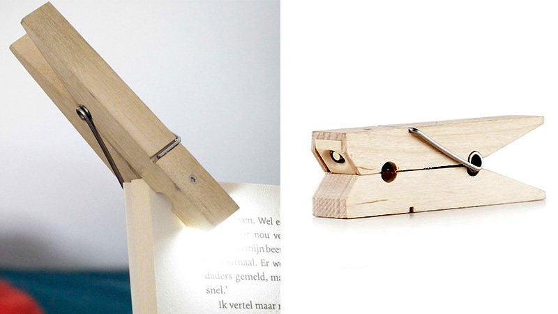 An LED Clothespin Makes For A Brilliant Book Light