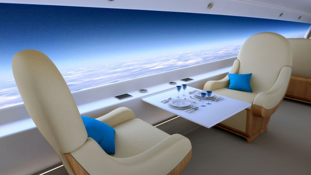The First Supersonic Private Jet Has Huge Screens Instead of Windows