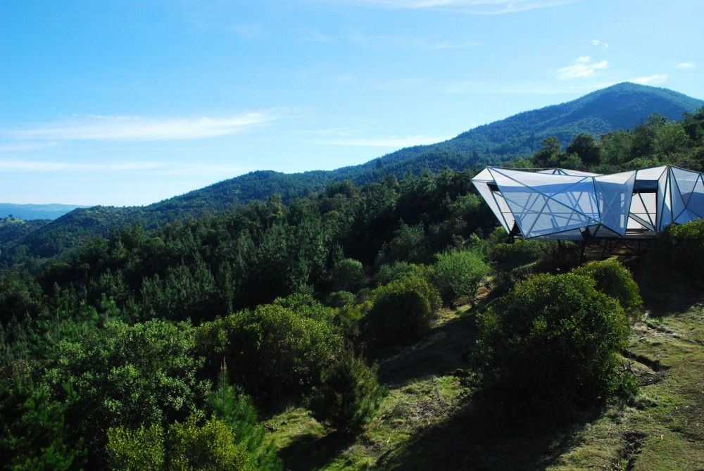 An Alien Cocoon? No, It's An Alpine Shelter For Mountain Bikers
